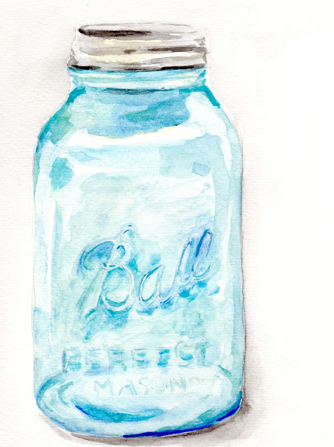 The strawberry patch ball jar painting for How to stain glass jars with paint