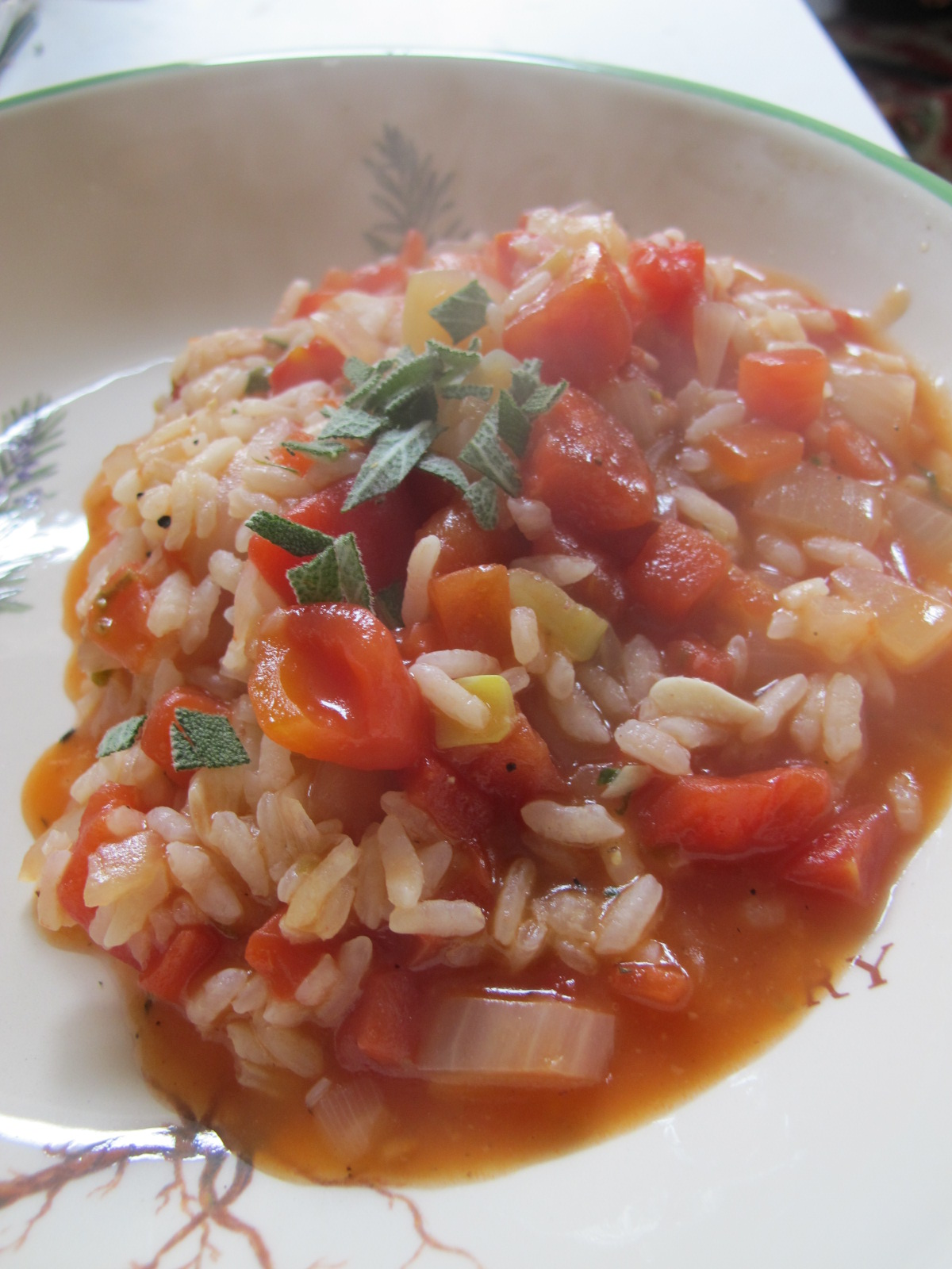 """Happiness is Happiness"""": Great Eats: Tomato & Herb Risotto"""