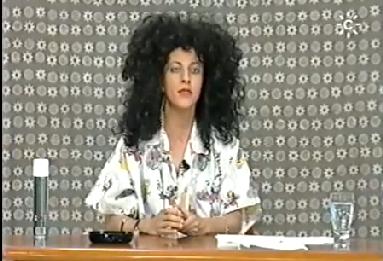 Isabel Camiña en una parodia
