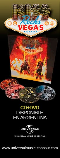 """Kiss Rocks Vegas"" CD+DVD disponible en Argentina"