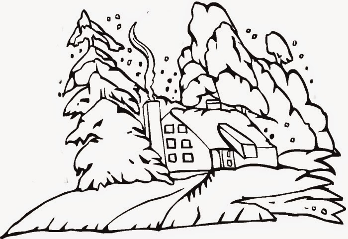 Winter Coloring Pages And Clip Art Coloringfilminspector