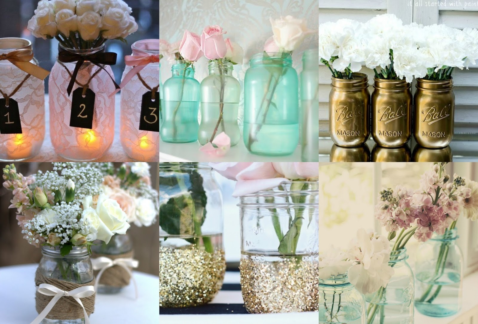 craft ideas mason jars flower pots