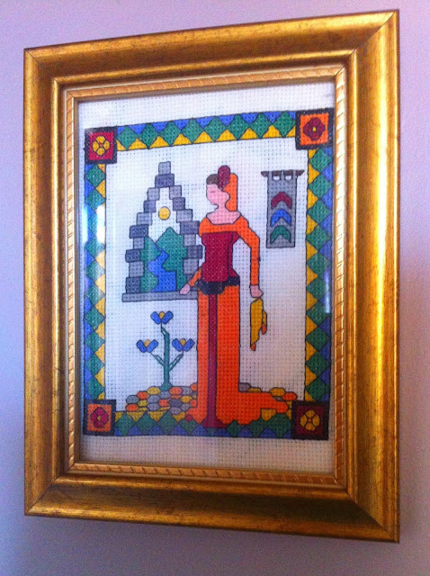 Lady in the Tower Cross Stitch