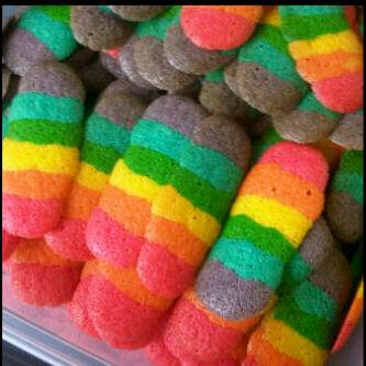 Kumpulan Resep Kue Kering Rainbow Lidah Kucing   Ocim Blog - Berita ...