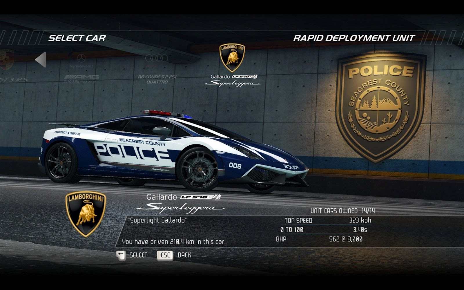 Nfs Hot Pursuit Lamborghini Gallardo Police Car Game Wallpaper