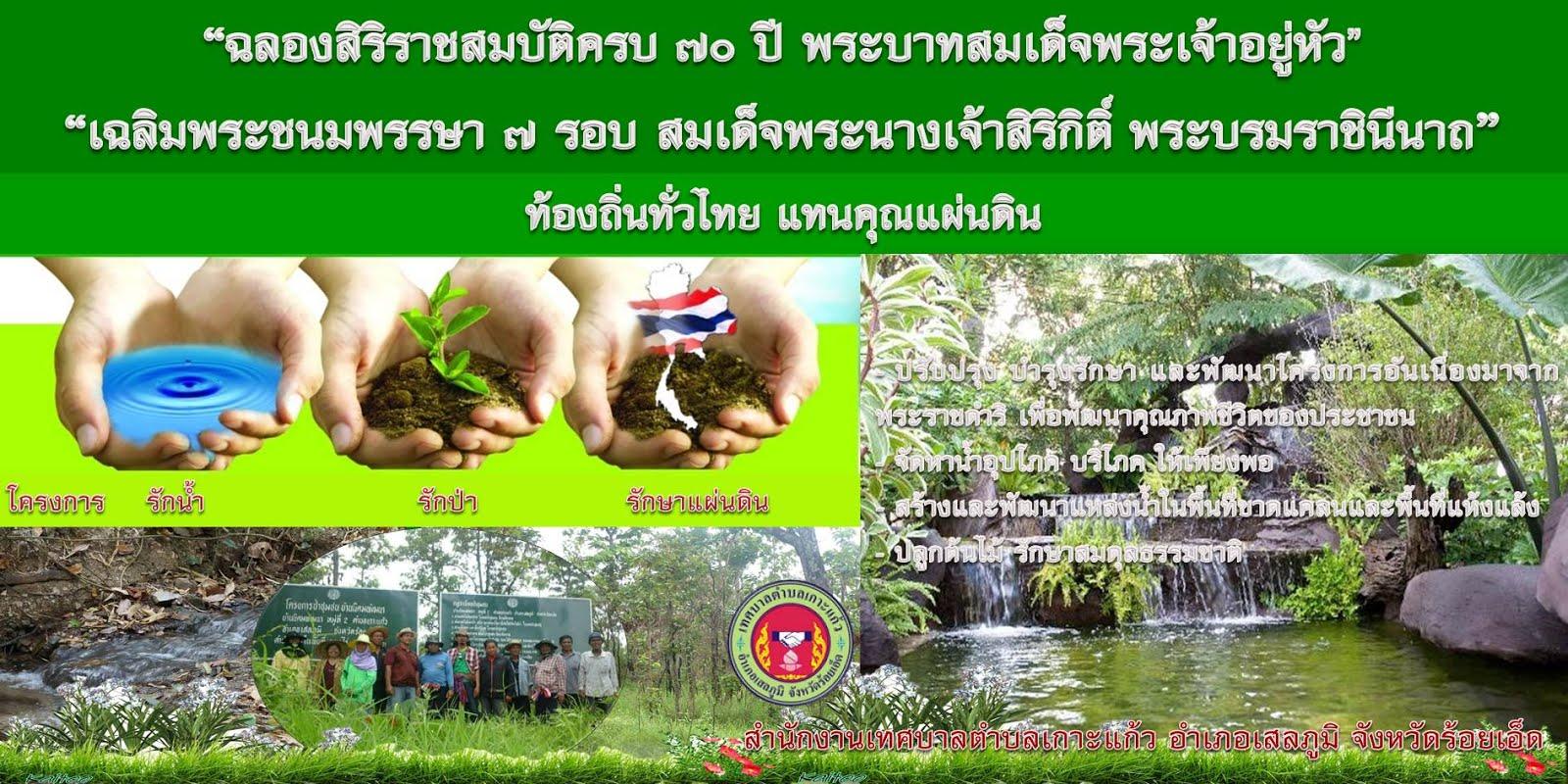 โครงการรักน้ำ รักป่า รักษาแผ่นดิน