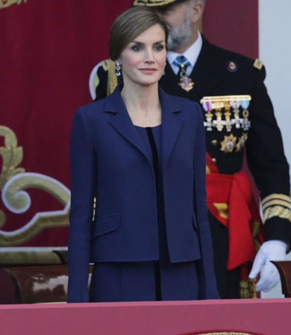 Spanish Royals Attended National Day Military Parade 2015