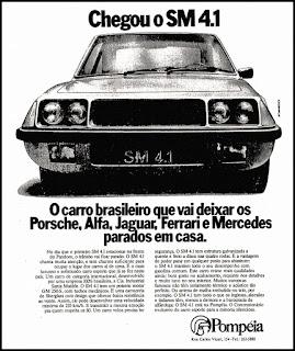 propaganda carro esporte SM 4.1 - 1978; brazilian cars in the 70's; propaganda anos 70. propaganda carros anos 70. reclame anos 70. Oswaldo Hernandez.