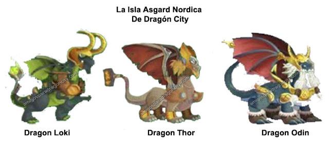 imagen de los dragones de la isla nordica de dragon city
