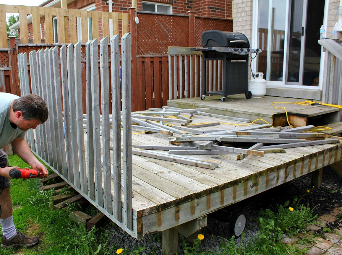 How To Rebuild A Deck - Deck renovation
