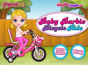 Baby Barbie en bicicleta