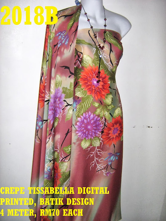 CTD 2018B: BATIK CREPE TISSABELLA DIGITAL PRINTED, EXCLUSIVE DESIGN, 4 METER