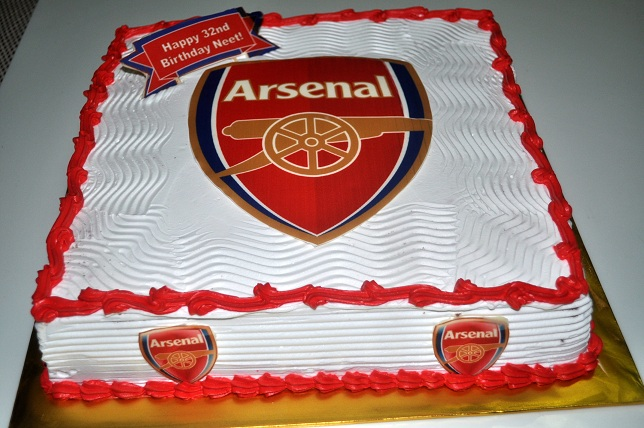 Birthday Cake With Arsenal Logo Image Inspiration of Cake and
