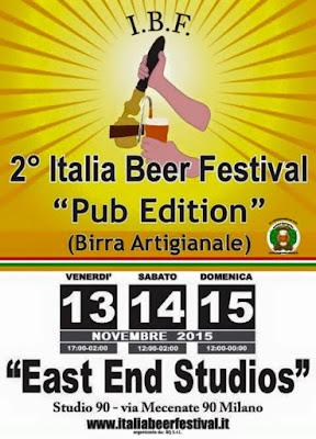 Italia Beer Festival dal 13 al 15 Novembre Milano 2015