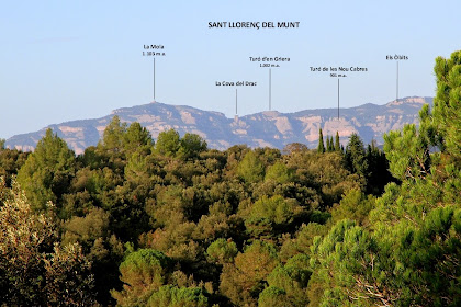 Panoràmica de Sant Llorenç del Munt des del camí cap el Mirador del Perer