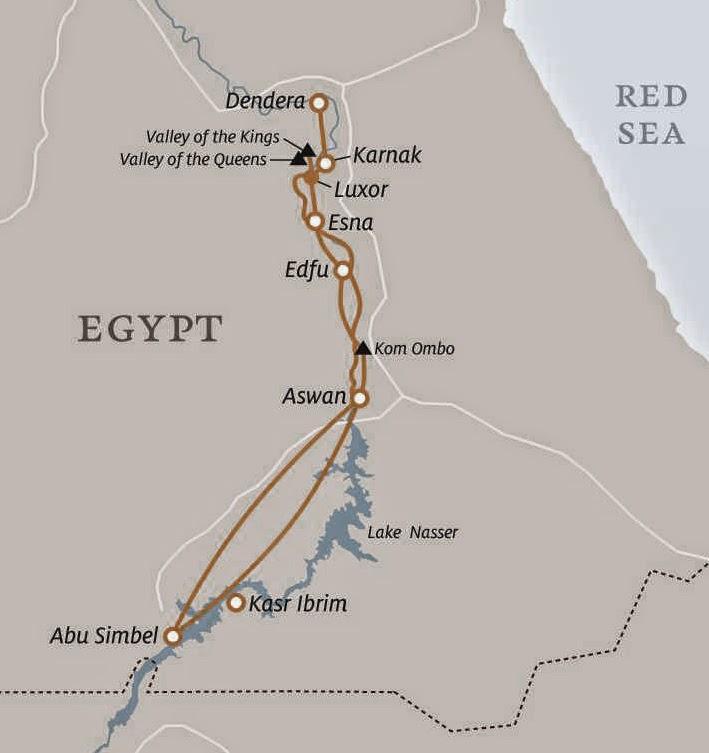 Egitalloyd Travel Egypt Cruising The Nile River By ICruise Egypt - Map of egypt showing valley of the kings
