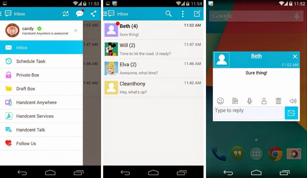 Aplikasi SMS Android Terbaik - Handcent SMS