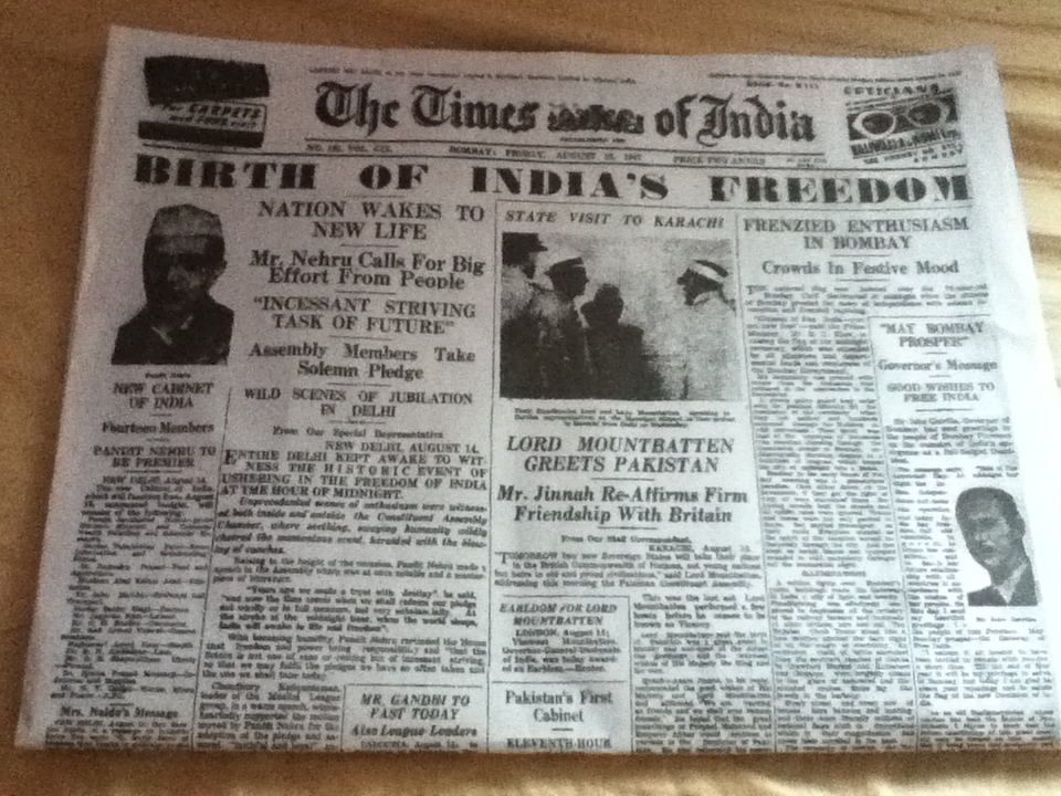 my heart first edition of toi after independence first edition of toi after independence