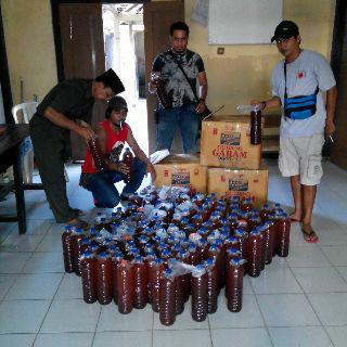 Lagi, Polisi Amankan Ratusan Botol Miras