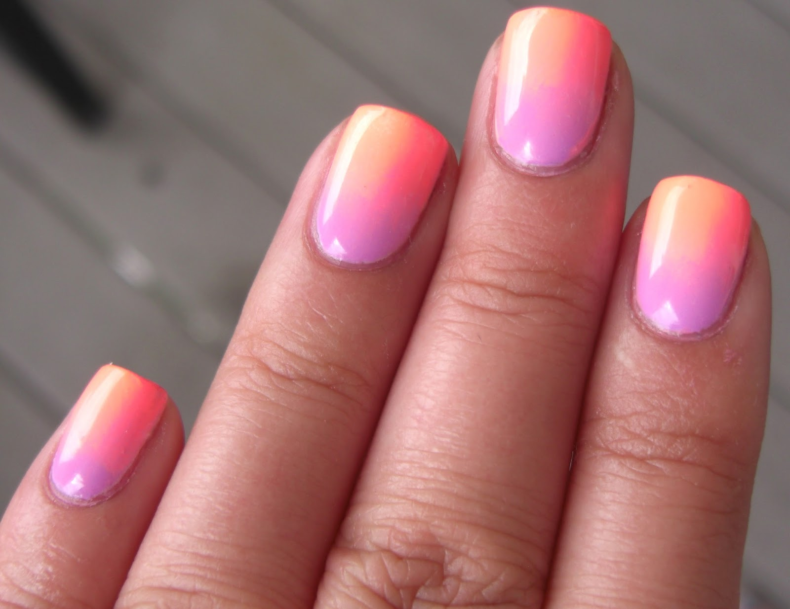 handtastic intentions nail art pastel summer neon gradient. Black Bedroom Furniture Sets. Home Design Ideas
