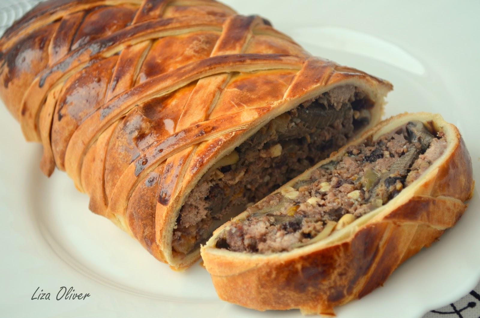 DSC 0070 Рецепт слоеного мясного хлеба с овощами и болгарским перцем