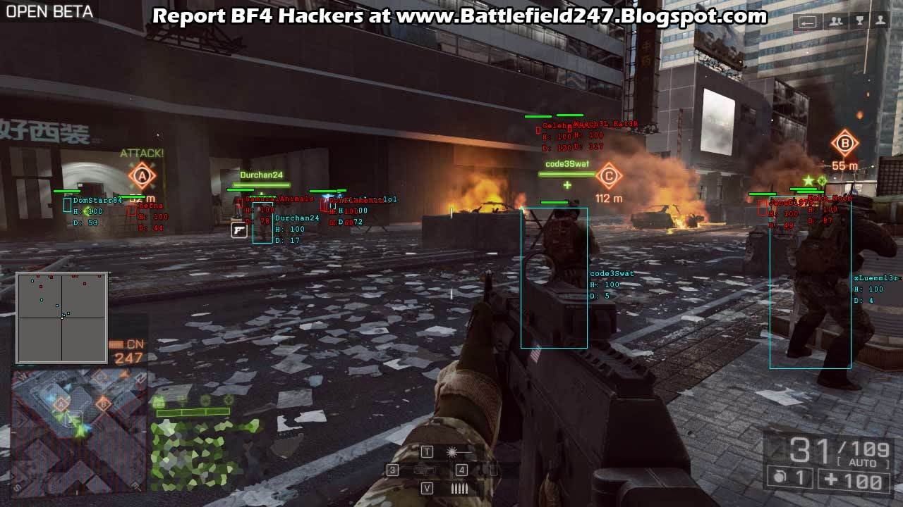 Artificial Aiming Hacker at work Open Beta 3