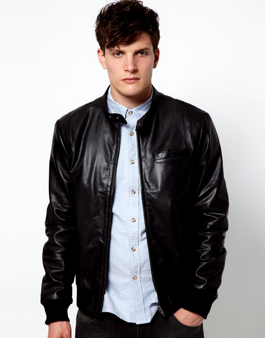 asos leather jackets collection 201213 for men casual