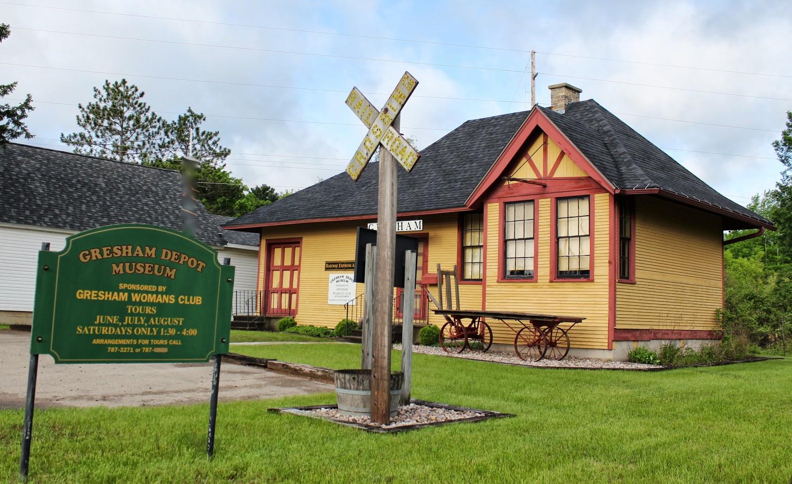 Wisconsin Historical Markers: Gresham Depot Museum