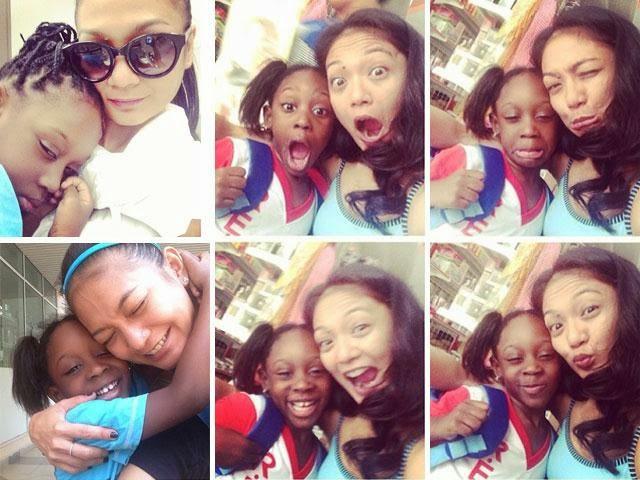 Atilia Rai Ulang Tahun Anak Angkatnya Dari Nigeria