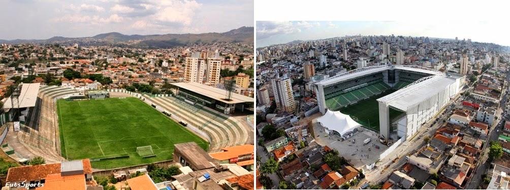 Antigo e Novo Estádio Independência
