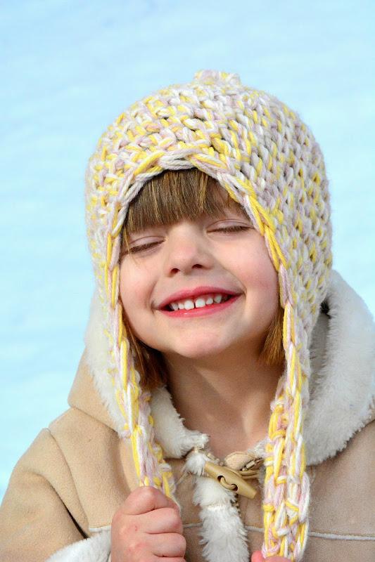 Aesthetic Nest Crochet Triple Strand Earflap Hats For The Family