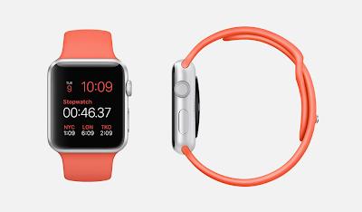 除了時尚跟可愛, iWatch 亦有 sport 版本,有各色錶帶可以選擇。(圖/蘋果官網)