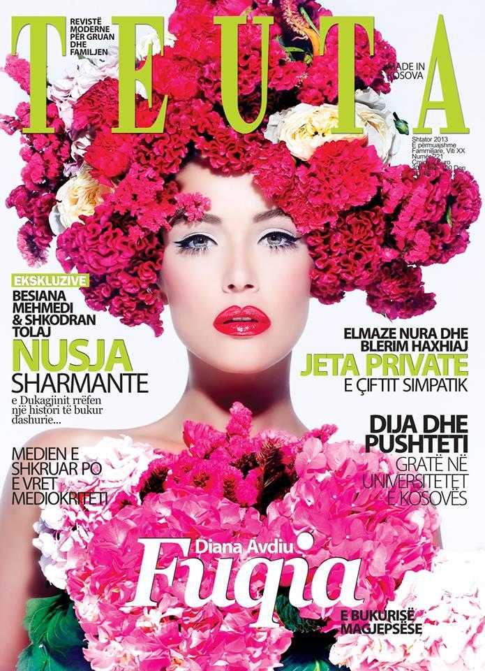 "Diana Avdiu ne kopertinen ""Teuta"" shtator 2013"