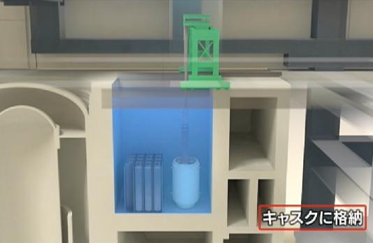 4号機使用済燃料プールの燃料取り出し作業-東京電力映像アーカイブ