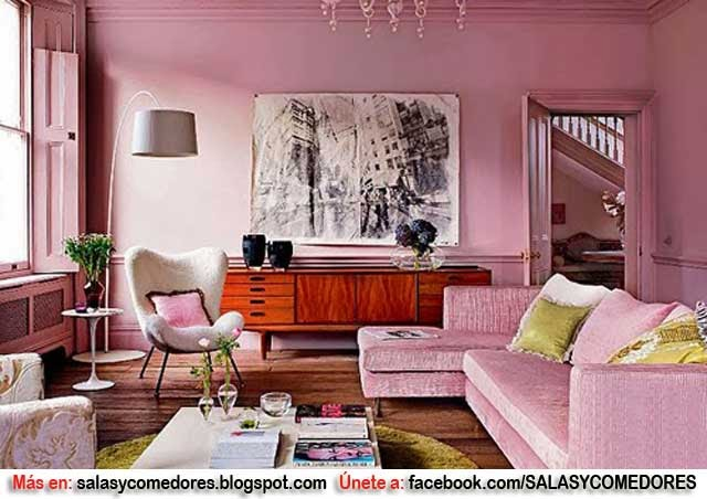 Juegos De Decorar Living Room ~ DECORAR TU SALA EN TONOS ROSA  SALAS Y COMEDORES DECORACION DE LIVING