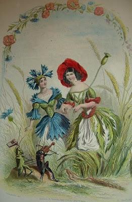 Les éditions inconnues des Fleurs animées de Grandville dans Bibliophilie, imprimés anciens, incunables coquelicot