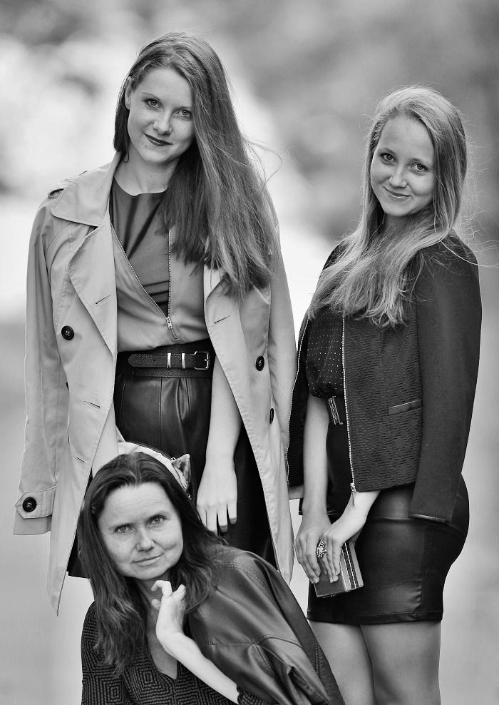 we wear, how to wear leather, michala srbová, martina srbová, lucie srbová