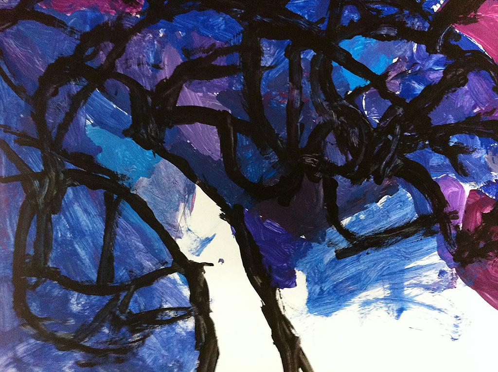 bomen abstract schilderen