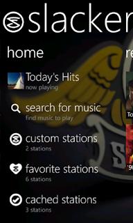 Slacker Radio for windows phone 8