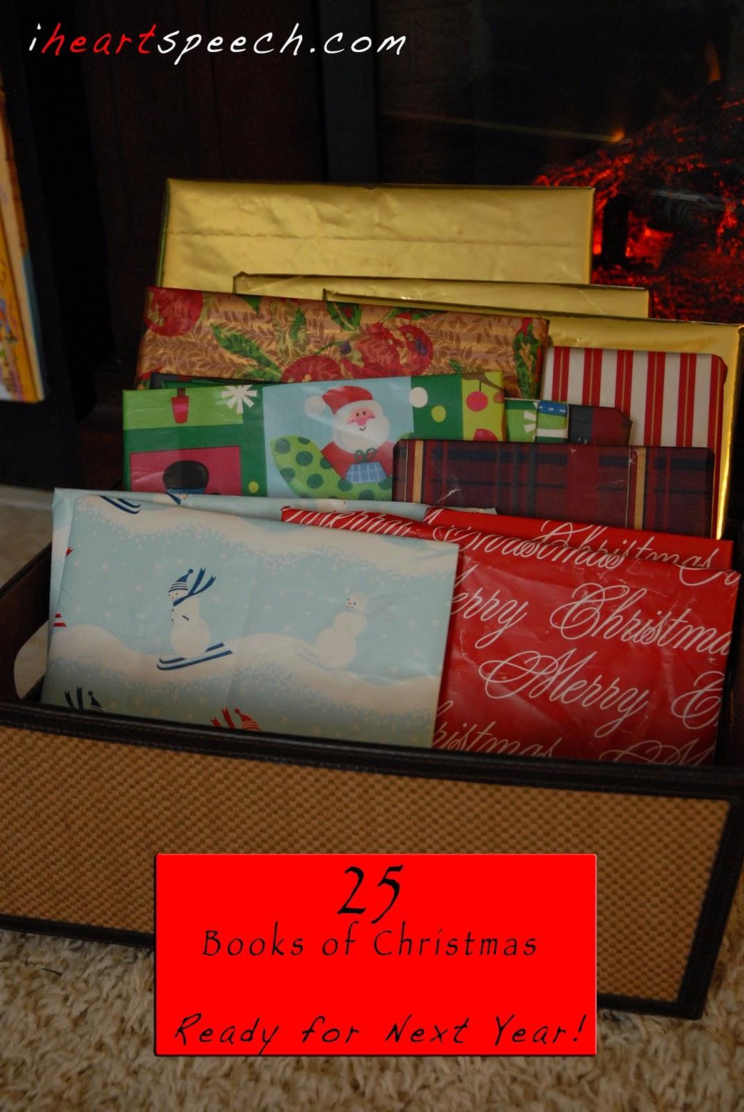 iHeartSpeech.com: 25 Books of Christmas - Ready for Next Year!