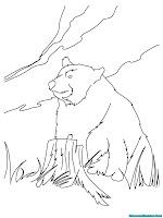 Download Gambar Beruang Untuk Diwarnai