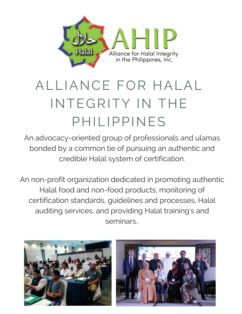 Halal awareness now available in the philippines by ahip halal ahip now offers halal awareness seminar 1betcityfo Images