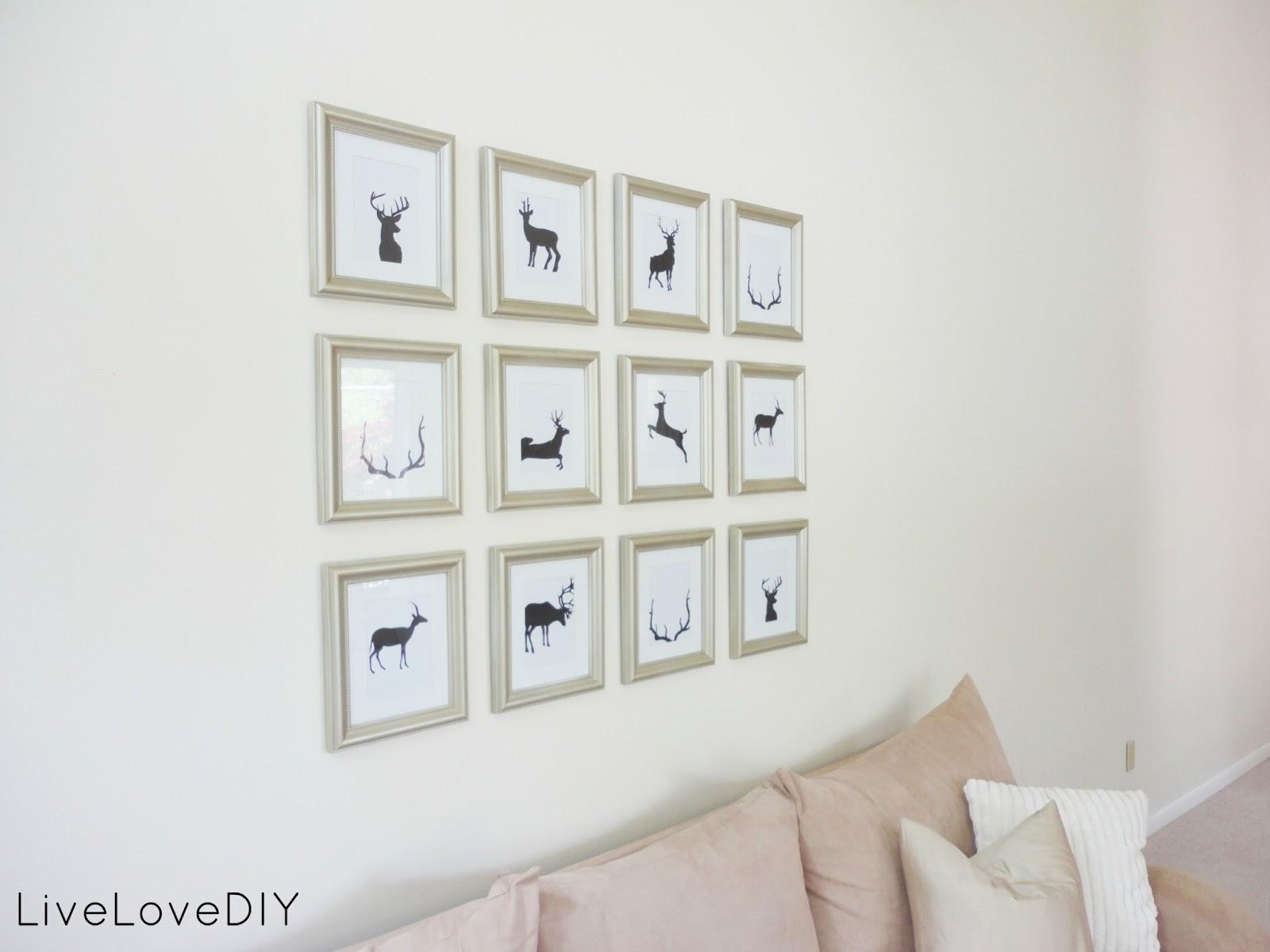Livelovediy cheap wall art ideas antler silhouette for Cheap wall art ideas