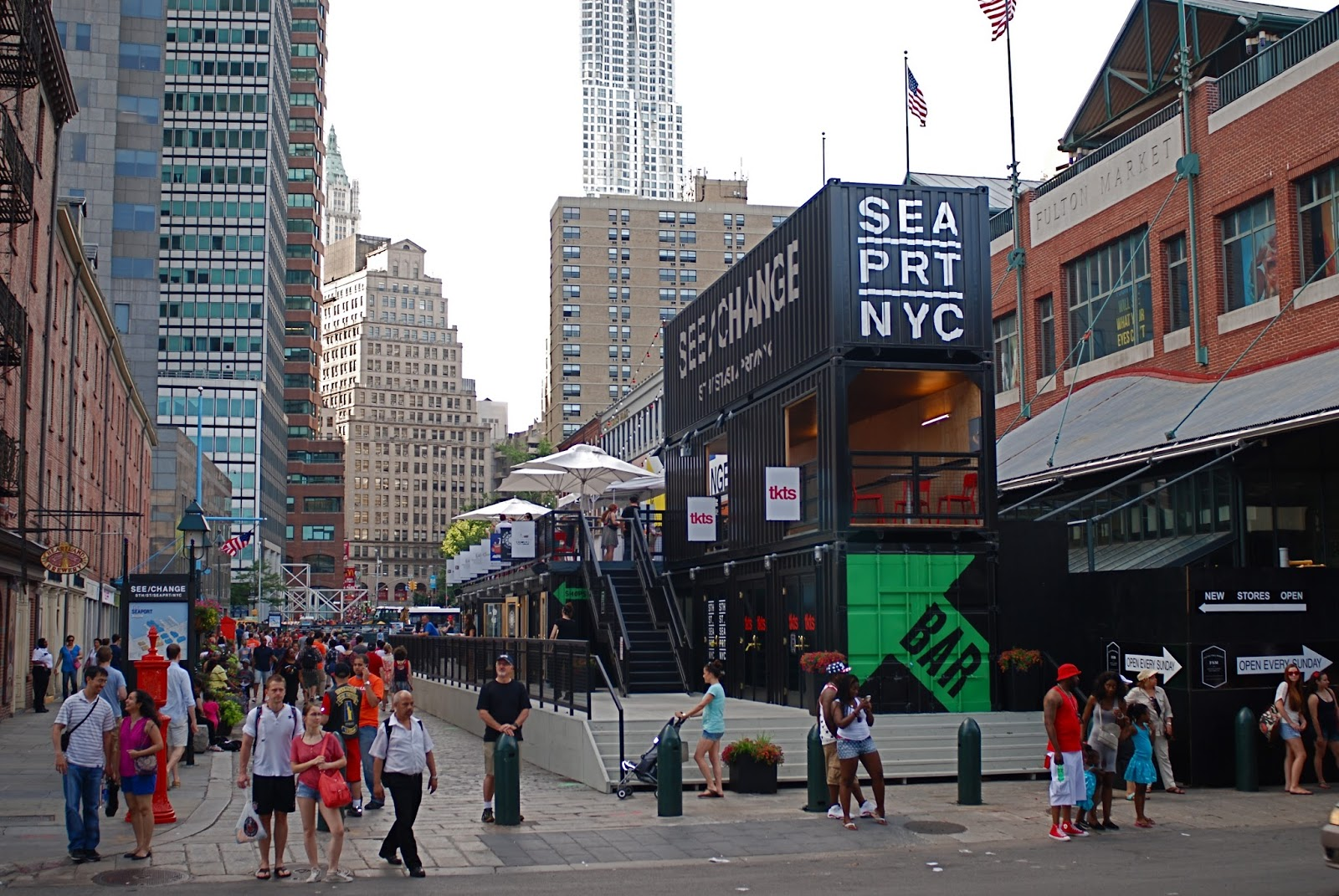 south street seaport Cobblestone streets merge with sleek cafes, blending the past and present in a breezy waterfront setting in one of the city's oldest neighborhoods, visitors can explore south street seaport's storied maritime past.