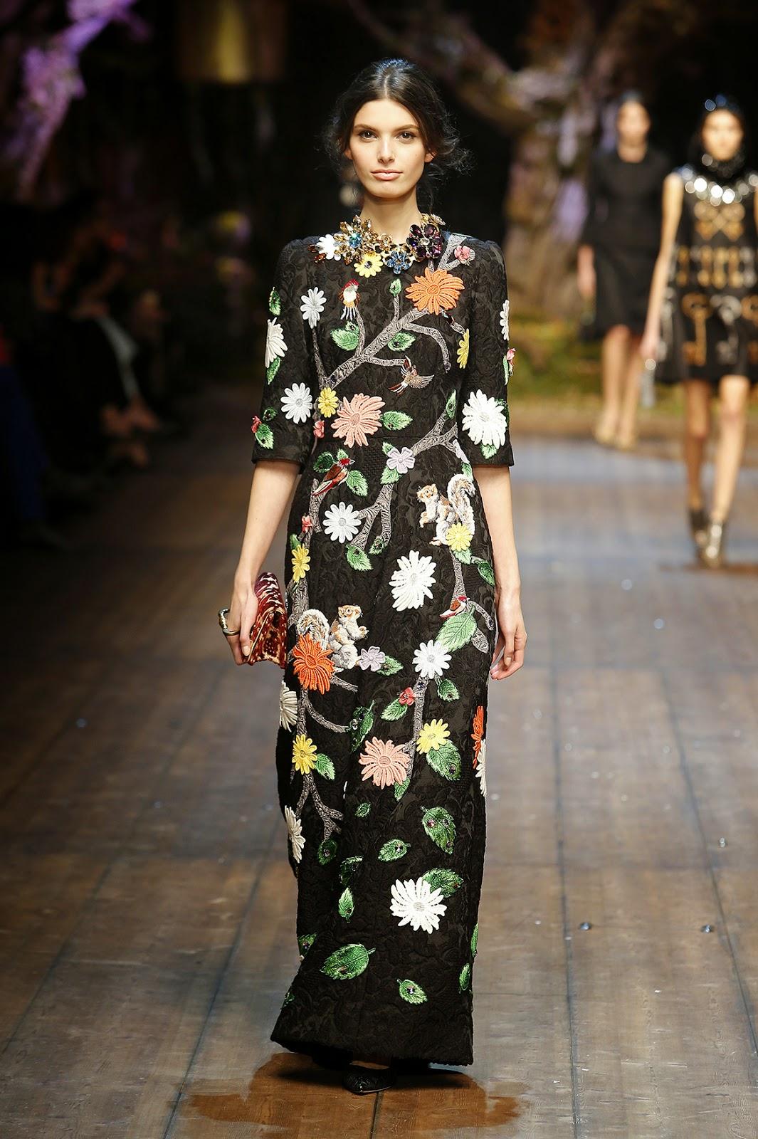 Dolce&Gabbana colecção outono inverno 2014-2015  flores