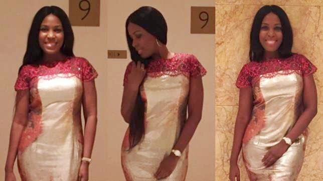 Celebrity Blogger Linda Ikeji Rocks Her N1Million Lanre DaSilva Ajayi Dress