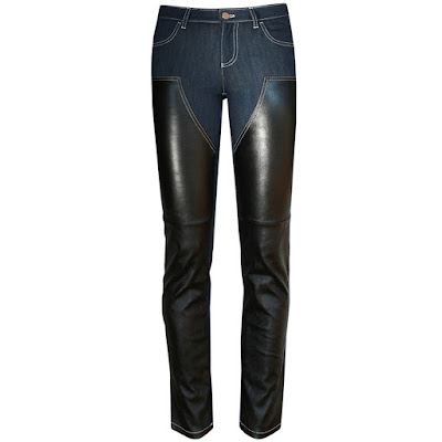 givenchy paris leather chaps jeans