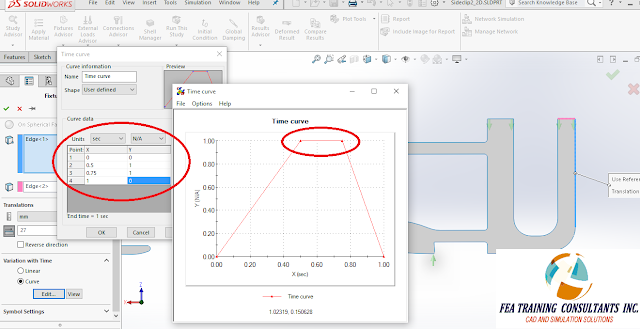 intermittent fixtures solidworks simulation 2016