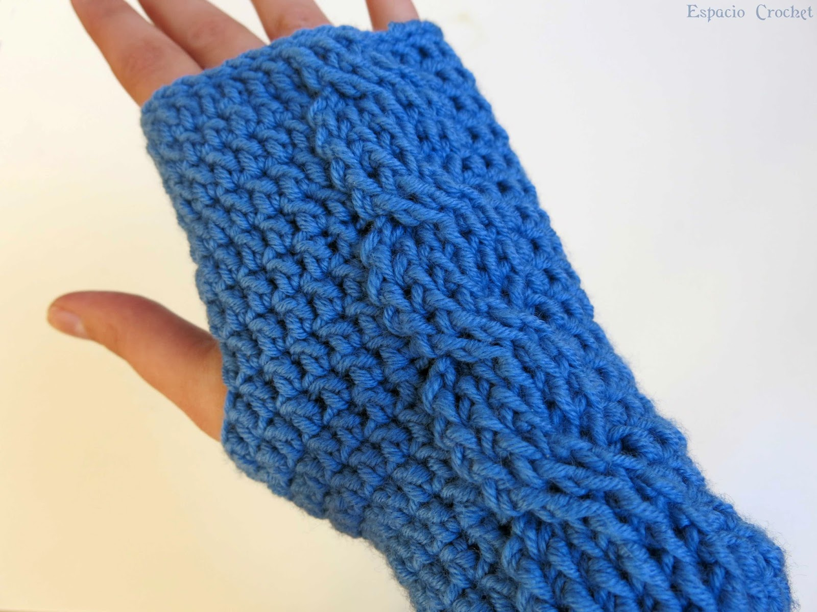 Mitones con ochos | Espacio Crochet