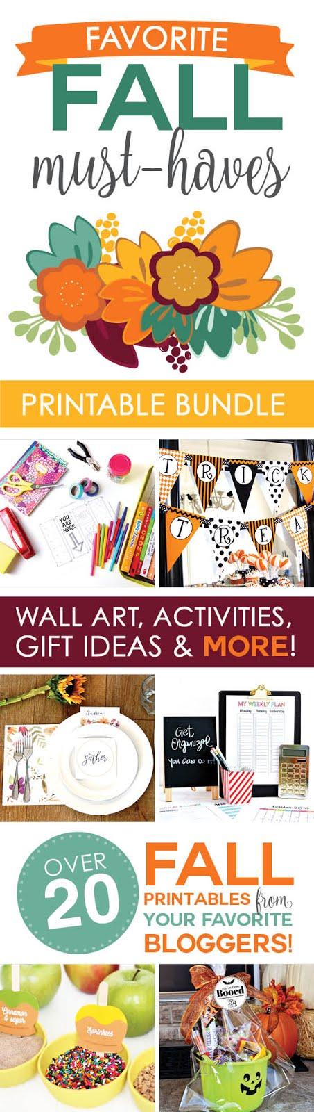 Fall Favorites Printables Bundle!